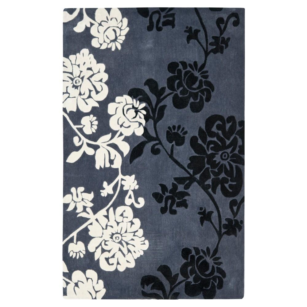 Check price 8x10 Floral Area Rug Dark Gray - Safavieh
