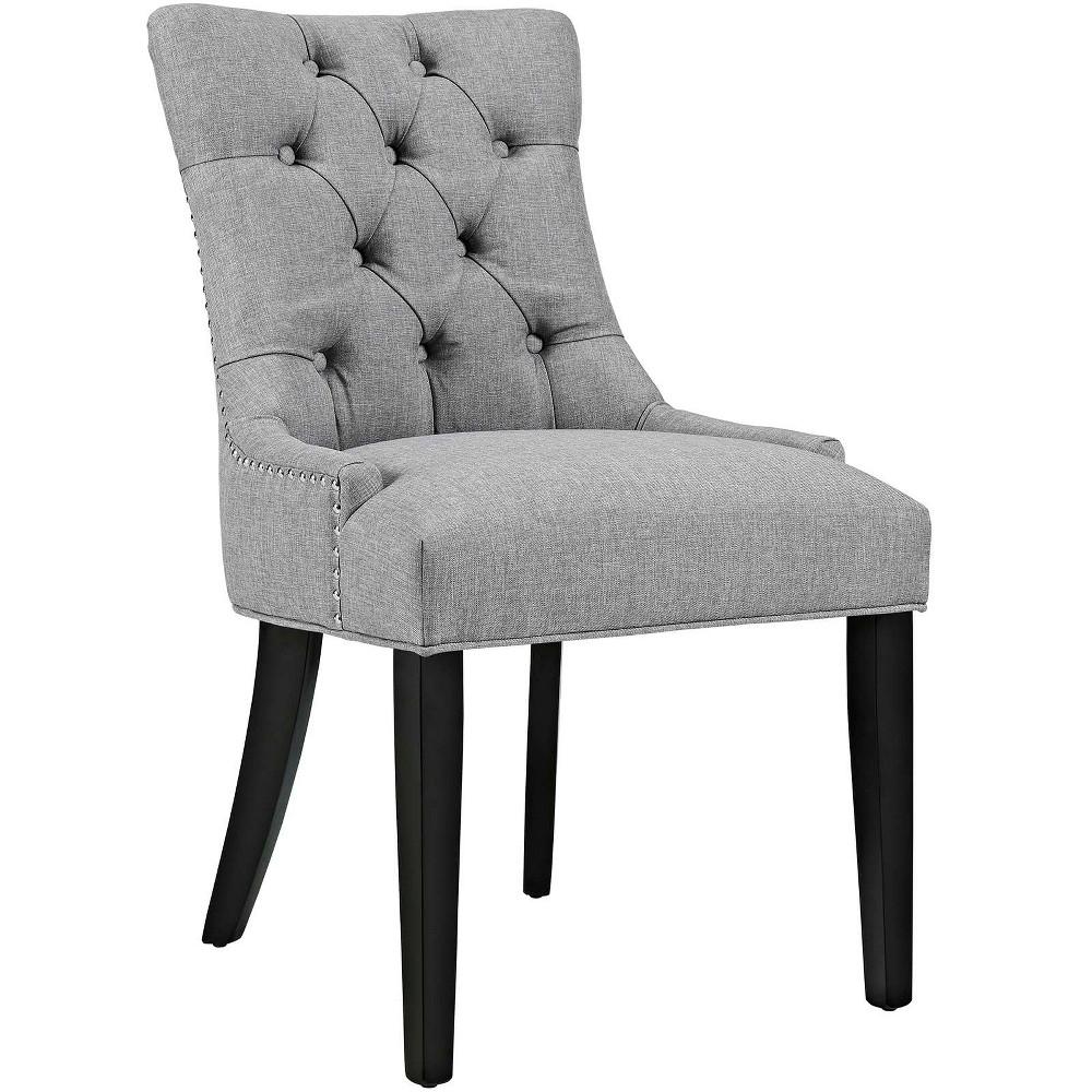 Regent Fabric Dining Chair Light Gray Modway