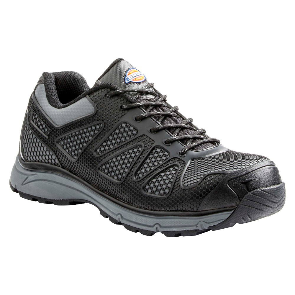Image of Dickies Men's Fury Work Boots - Black /Gray 10.5, Men's
