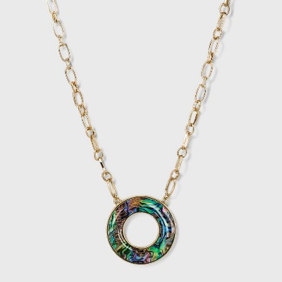 Mother of Pearl Discs Necklace - A New Day™