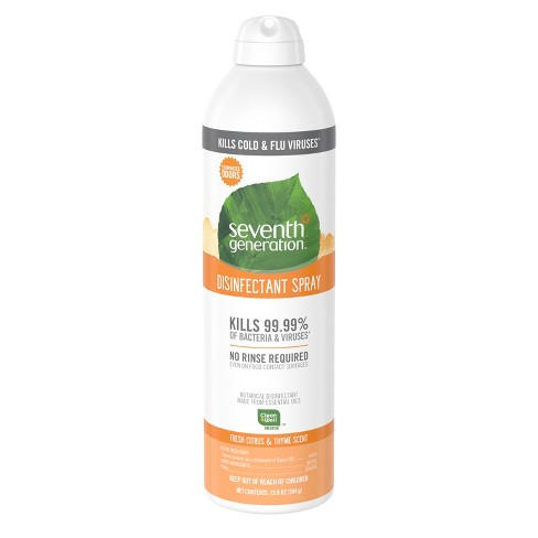 Seventh Generation Fresh Citrus Disinfectant Spray - 13.9oz - image 1 of 4