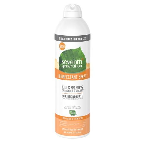 Seventh Generation Fresh Citrus Disinfectant Spray - 13 9oz