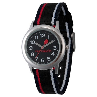 Boys' Red Balloon Stainless Steel Watch - Black