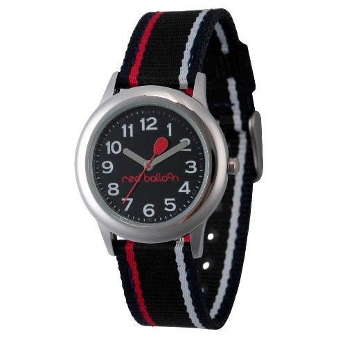 Boys' Red Balloon Stainless Steel Watch - Black - image 1 of 2