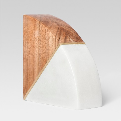 marble and wood bookend project 62 target