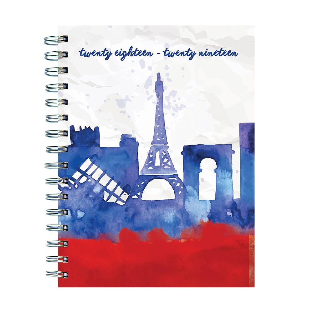 2018 - 2019 Academic Spiral Paris Inspired Planner