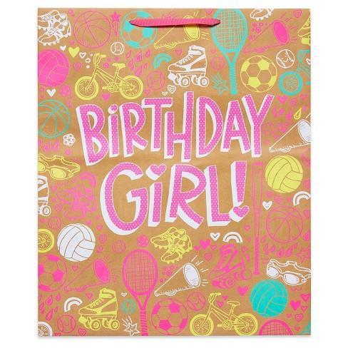 Jumbo Gift Bag Birthday Girl Sports