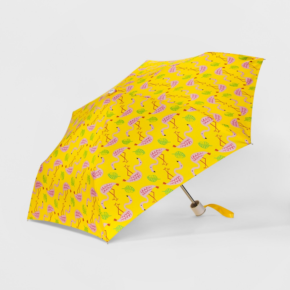 Image of Cirra by Shedrain Flamingo Compact Umbrella, Women's, Size: Small, Yellow