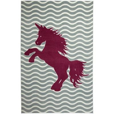 Mohawk Majestic Unicorn Royal Area Rug - Blue (5'x8')