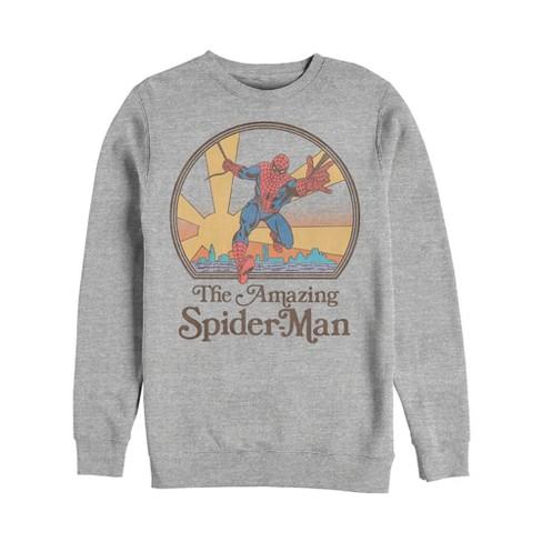 Men's Marvel Vintage Spider-Man Sun Sweatshirt - image 1 of 1