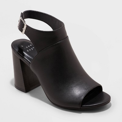 Women's Joanna Peep Toe Heels - A New Day™