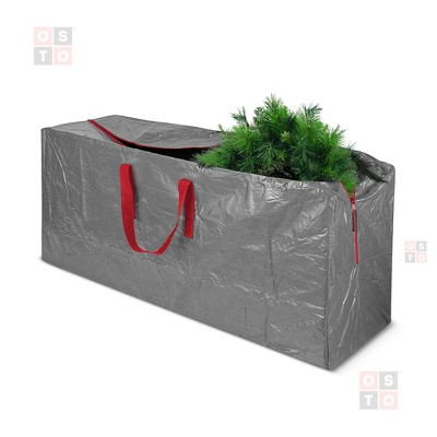 OSTO Waterproof Artificial Christmas Tree Storage Bag for Disassembled Trees up to 9 Feet 65x15x30 Inch