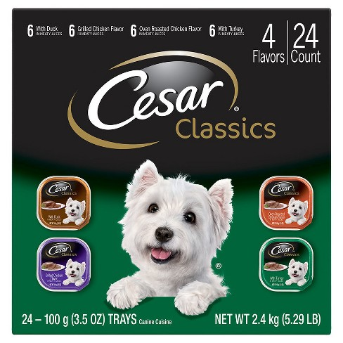 Cesar Classics Canine Cuisine Poultry Variety Pack Wet Dog Food - 3.5oz / 24ct - image 1 of 3