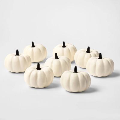 8ct Painted Pumpkins Halloween Decorative Sculpture Set - Hyde & EEK! Boutique™