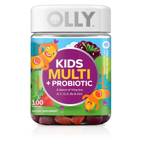 Olly Kid's Multi + Probiotic Vitamin Gummies - Berry Punch - 100ct - image 1 of 4