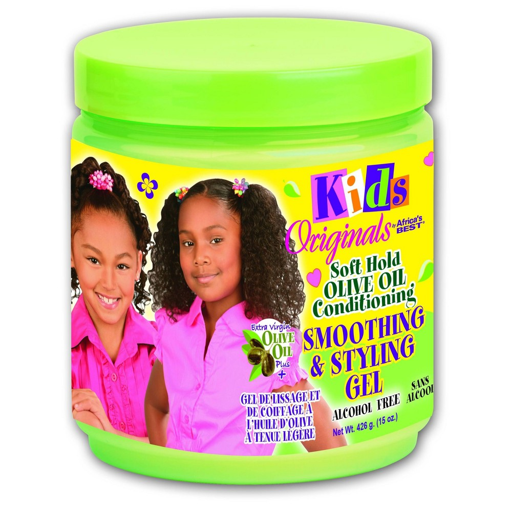 Image of Africa's Best Kids Originals Soft Hold Olive Oil Conditioning Smoothing & Styling Gel for Kids - 15oz