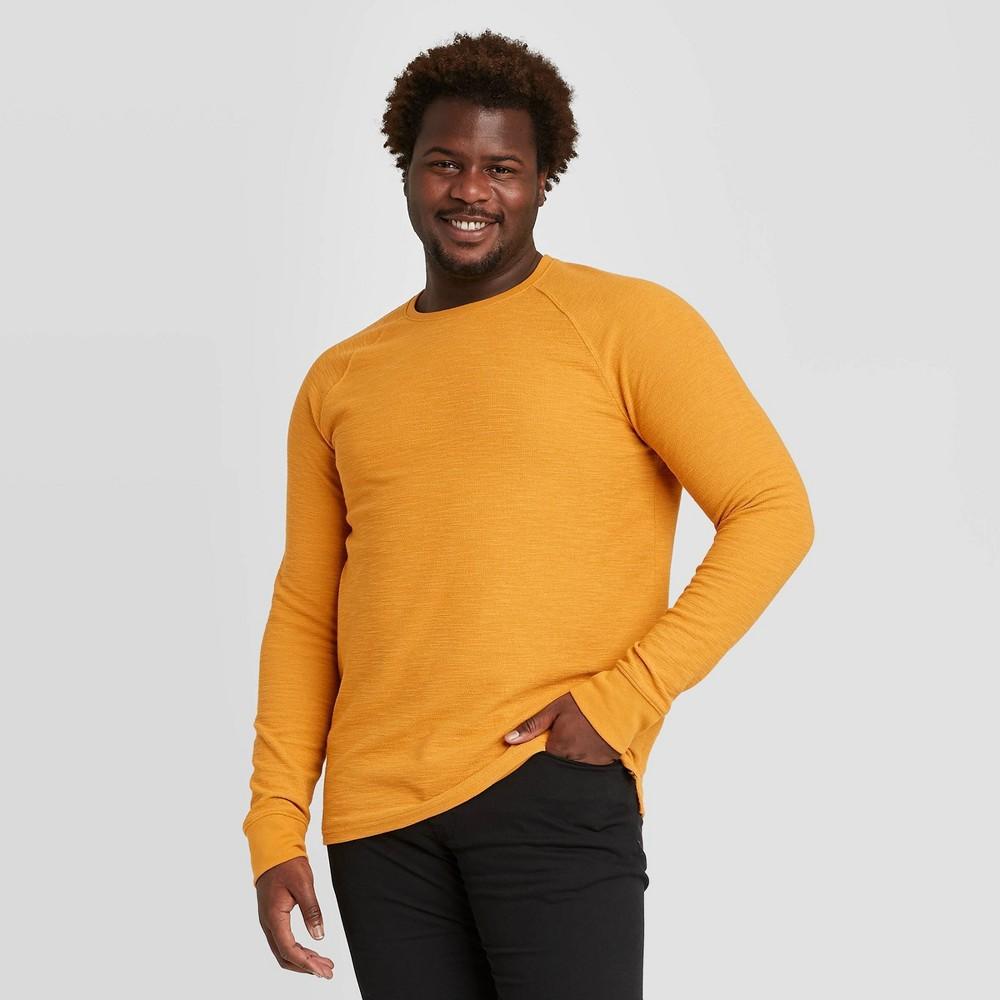Compare Men's Big & Tall Standard Fit Long Sleeve Textured Crew Neck T-Shirt - Goodfellow & Co™