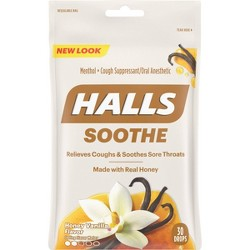 Halls Real Honey Cough Drops - Vanilla - 30ct