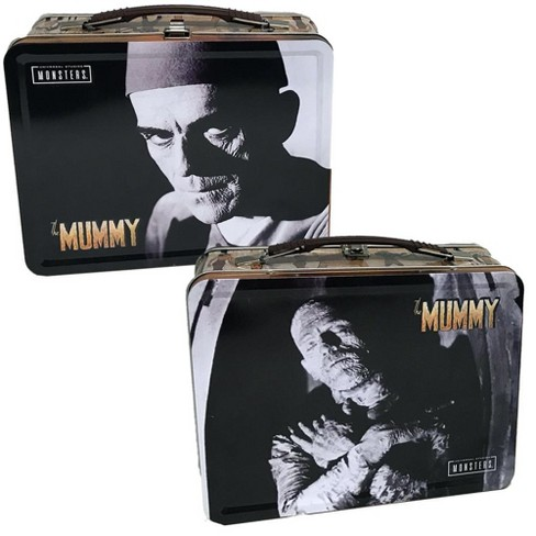 """Factory Entertainment Universal Monsters The Mummy 8.625"""" x 6.75"""" x 4"""" Tin Tote - image 1 of 1"""