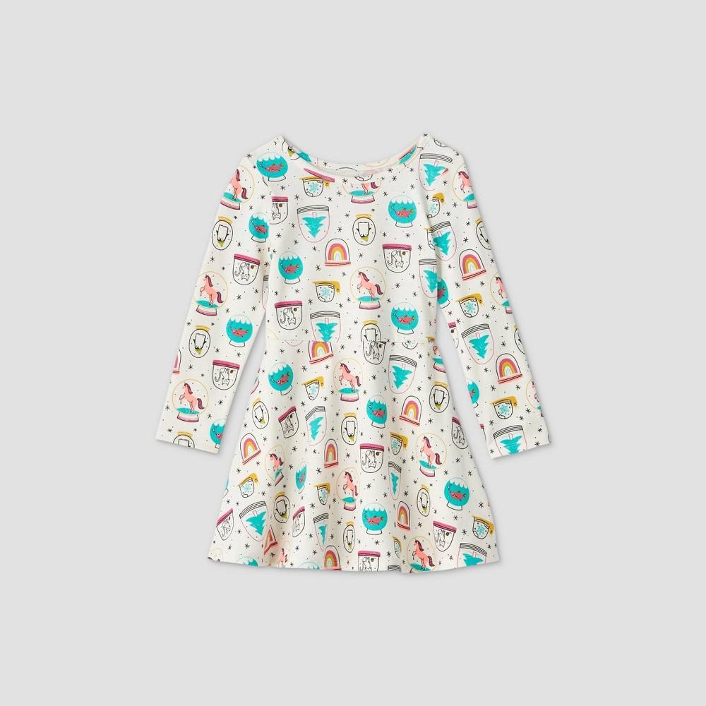 Top Toddler Girls' Knit Long Sleeve Dress - Cat & Jack™