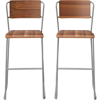 Set of 2 Killiam Mixed Material Sled Barstool Black - Project 62™