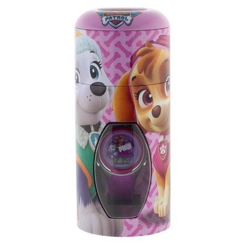 Girls' Paw Patrol Watch with Cylinder Tin Coin Bank - image 1 of 2