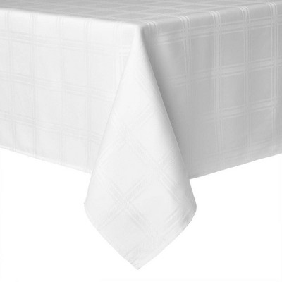 """102"""" x 60"""" Element Tablecloth White - Town & County Living"""