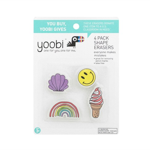 4ct Erasers - Yoobi™ - image 1 of 2