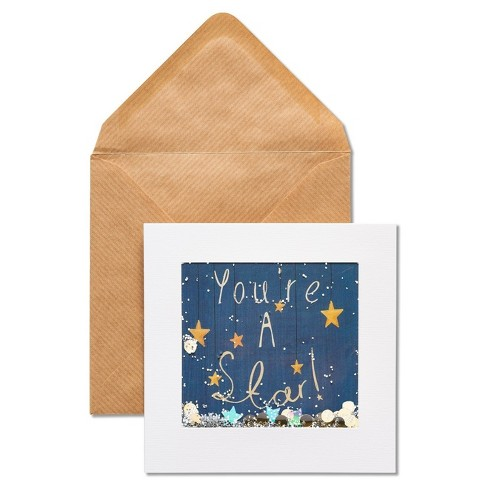 Papyrus You're A Star Congratulations Card with Glitter - image 1 of 4