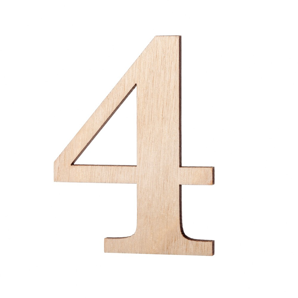 2.5 Wood Number 4 - Hand Made Modern, White