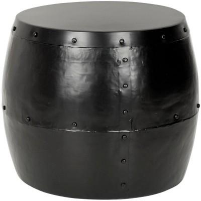 Hogan Iron Drum Stool - Black - Safavieh