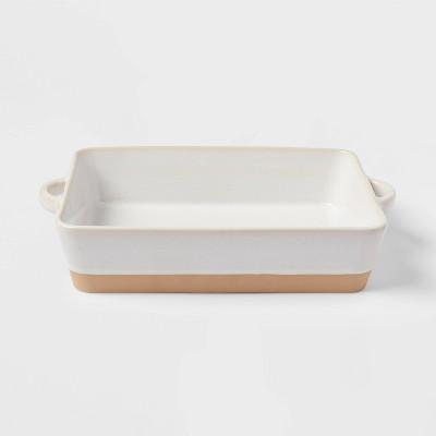 "13"" x 8"" Stoneware Casserole Baking Dish Cream - Threshold™"