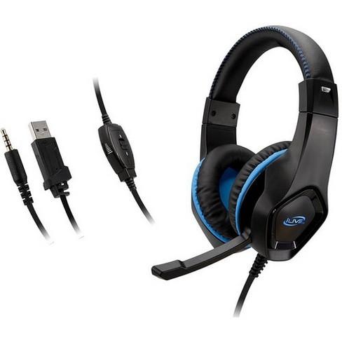 iLive Gaming Headset: Stereo Headphones (IAHG19B) - Stereo - Mini-phone - Wired - 32 Ohm - 20 Hz - 20 kHz - Over-the-head - Binaural - Circumaural - image 1 of 2