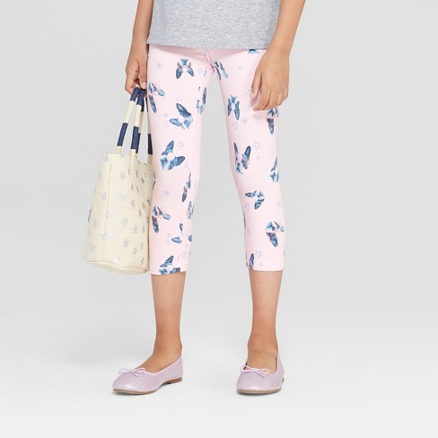 Girls' Capri Leggings - Cat & Jack™ Pink - image 1 of 3