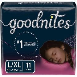 GoodNites Girls' NightTime Underwear - Size L/XL (11ct)