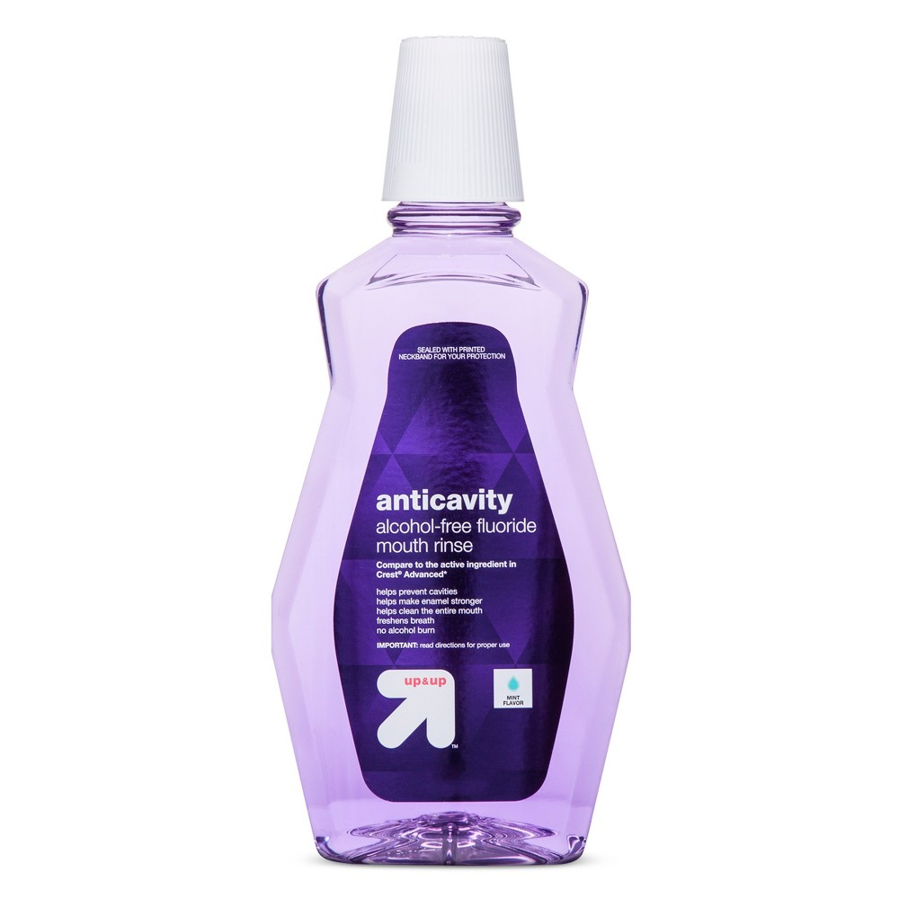 Image of Anticavity Alcohol-Free Fluoride Mint Mouthwash - 1L - Up&Up