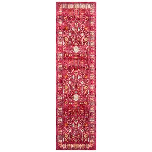 2 3 X12 Loomed Floral Runner Rug Fuchsia Safavie Target