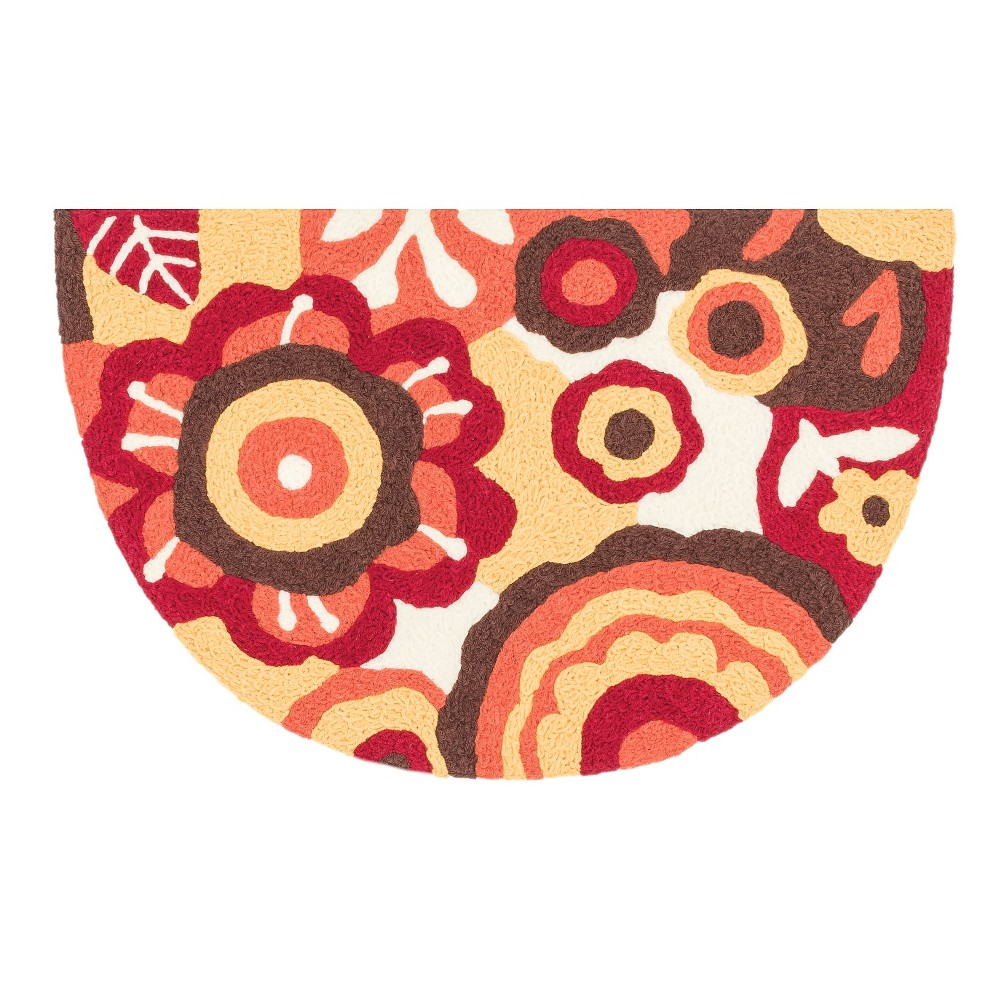 "Image of ""Loloi Angelou Accent Rug - Red (1'8""""X2'8"""")"""