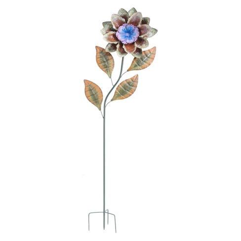 "12"" x 60"" Iron Large Flower Garden Stake - Sunjoy - image 1 of 5"