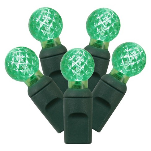 "50ct LED Faceted String Light Set  - Green (6""x25'L) - image 1 of 1"