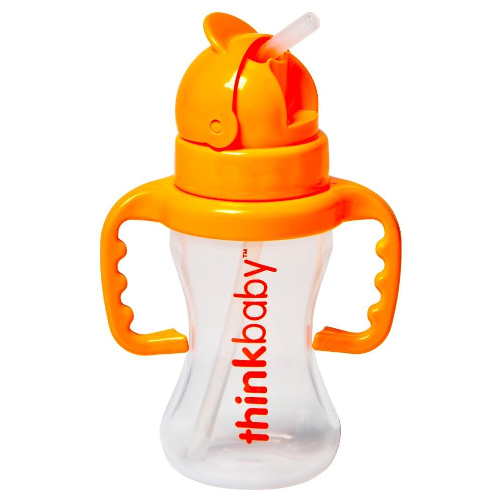 Image of Thinkbaby Toddler Straw Cup Orange Sorbet