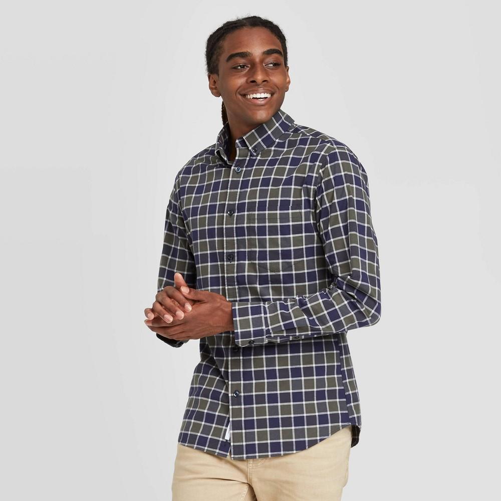Best en's Sli Fit Long Sleeve Poplin Button-Down Shirt - Goodfellow & Co™