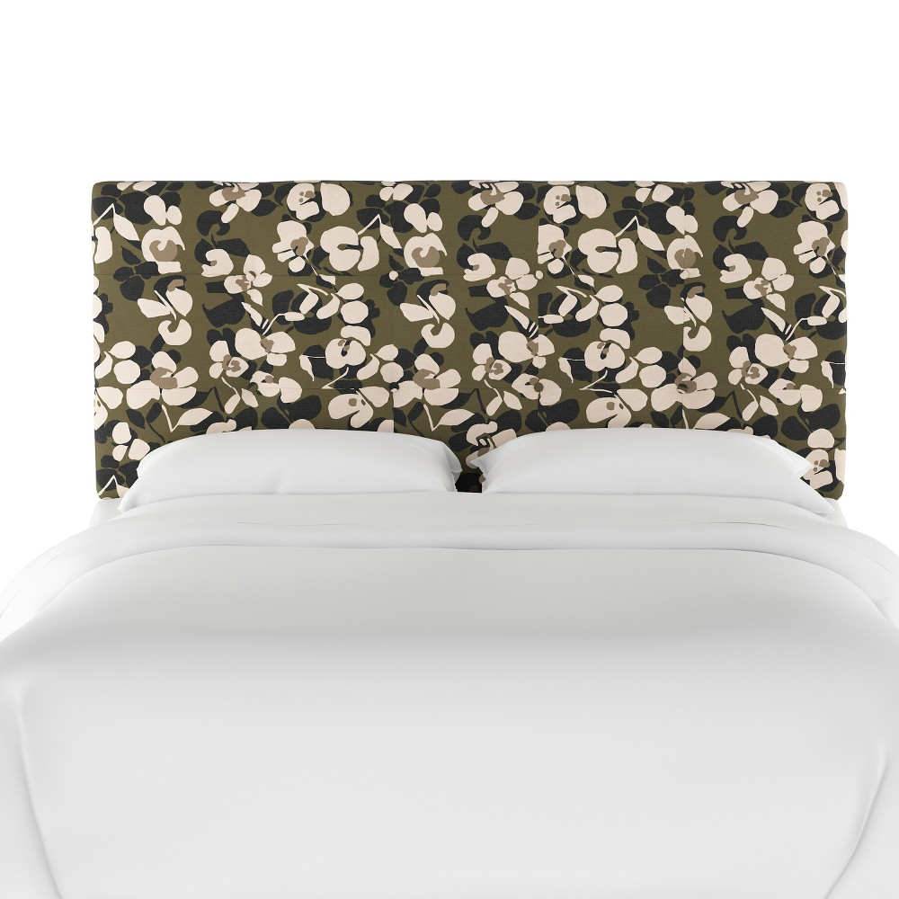 California King Dolce Headboard Neutral Floral - Cloth & Co.