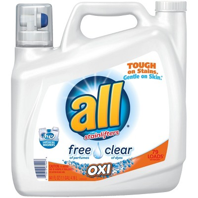 all® Ultra Free Clear OXI HE Liquid Laundry Detergent 141oz- 79 loads