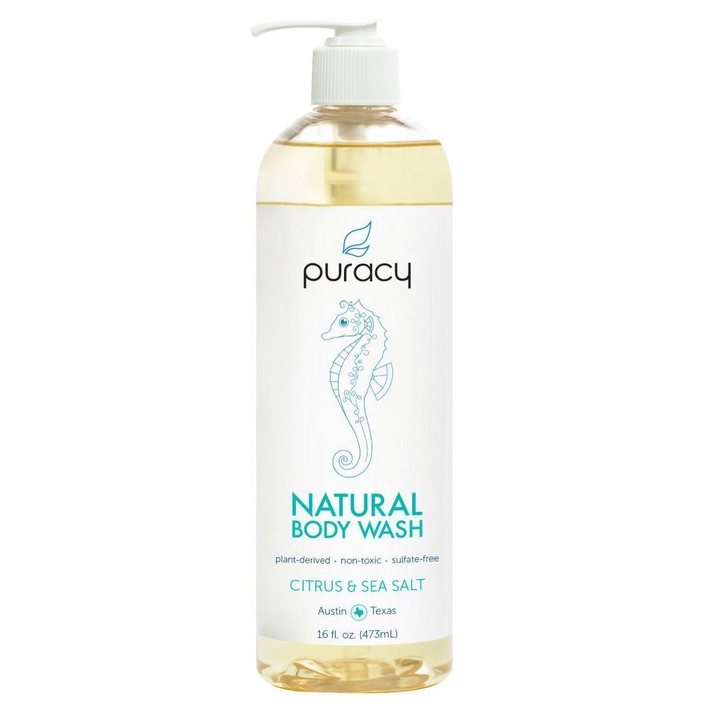Image of Puracy Citrus & Sea Salt Natural Body Wash Shower Gel - 16 fl oz