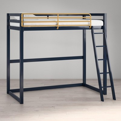 Little Seeds Monarch Hill Haven Twin Metal Loft Bed