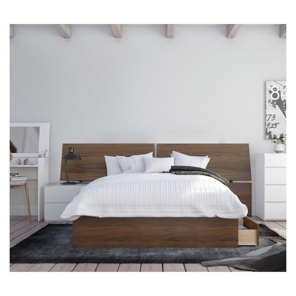Oddense 3pc Bedroom Set Full Walnut (Brown) - Nexera