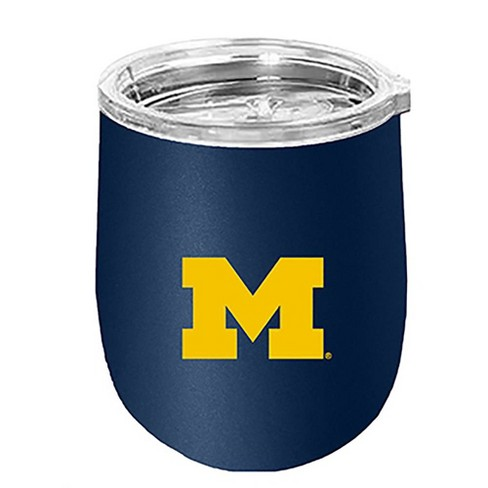 NCAA Michigan Wolverines 14oz Matte Stainless Steel Wine Tumbler - image 1 of 1