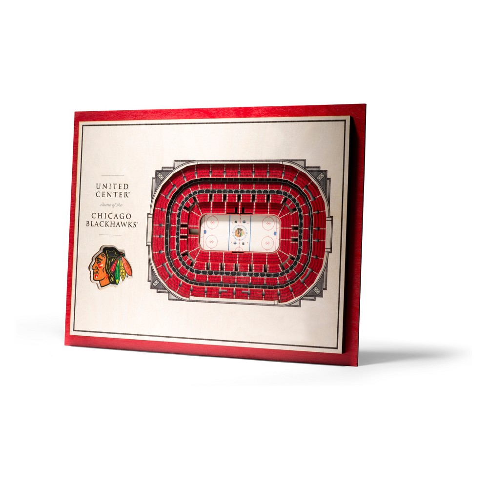 NHL Chicago Blackhawks 5-Layer Stadiumviews 3D Wall Art