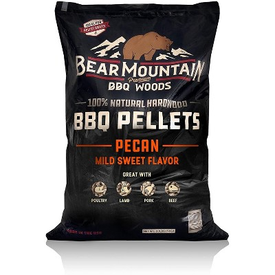 Bear Mountain BBQ 100% Natural Hardwood Pecan Mild Sweet Flavor Pellets for Smokers and Outdoor Grills, 20 Pound Bag
